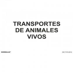 CARTEL 30X21 METAL TRANSPARENTE ANIMALES VIVOS