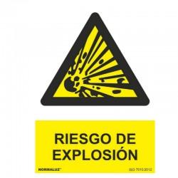 CARTEL 21X30 PVC PELIGRO RIESGO EXPLOSIÓN