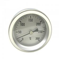 TERMÓMETRO HORNO 300ºC CON VAINA L.100 1/2 D.63
