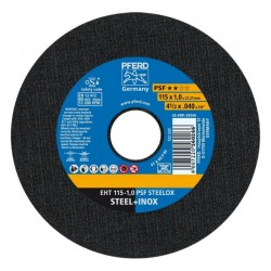 DISCO DE CORTE INOX EHT 115 X 1,0 A60 PSF STEELOX PFERD-CABALLITO