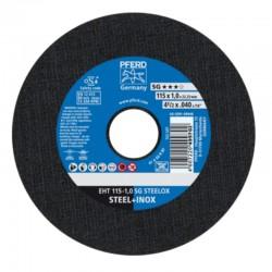 DISCO DE CORTE INOX EHT 115 X 1,0 A60R SG STEELOX PFERD-CABALLITO