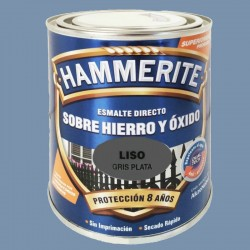 ESMALTE HAMMERITE 2,5L GRIS PLATA LISO