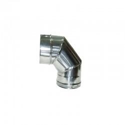 CODO INOX 90º 80 MM CON ABRAZADERA AISI-316