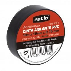 CINTA AISLANTE RATIO 10MTX19MM NEGRO