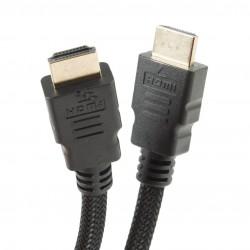 CABLE HDMI 1.4 1,7MT MALLA TRENZADA NEGRO