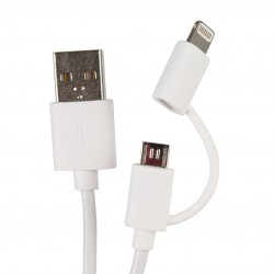 CABLE SINCRO IPHONE, IPOD,IPAD+MICRO USB