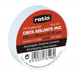 CINTA AISLANTE RATIO 25MTX19MM BLANCO