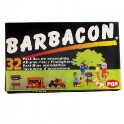 PASTILLAS DE FUEGO PQS 32 UNIDADES BARBACÓN